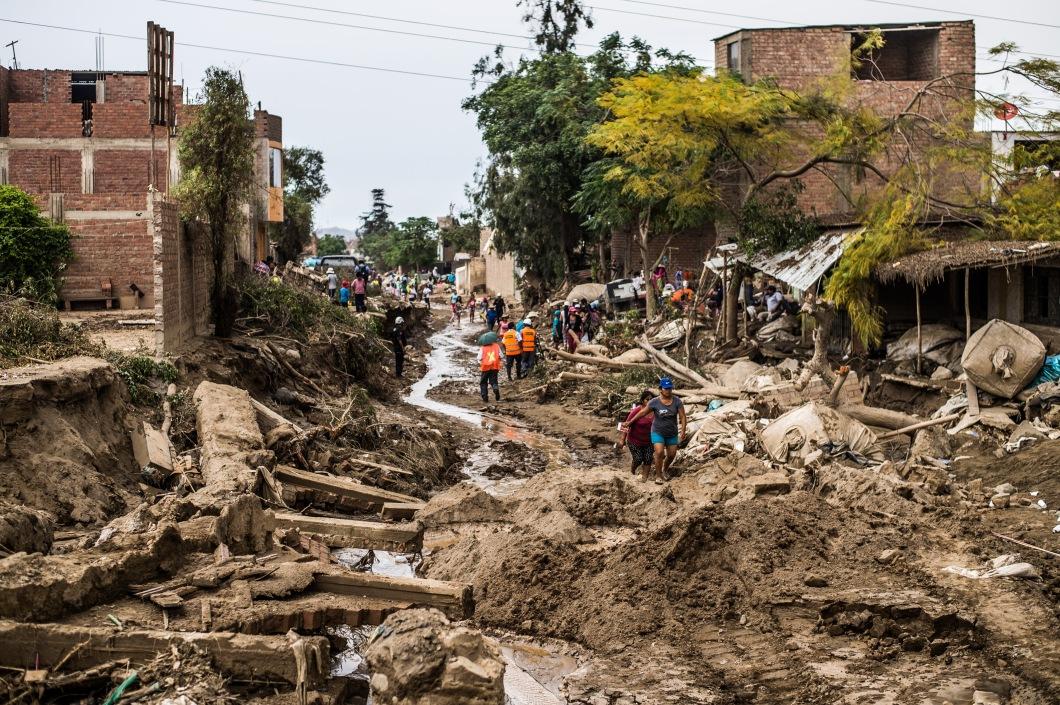 PERU-FLOODS-WATER