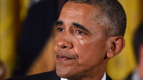 Obama llorando